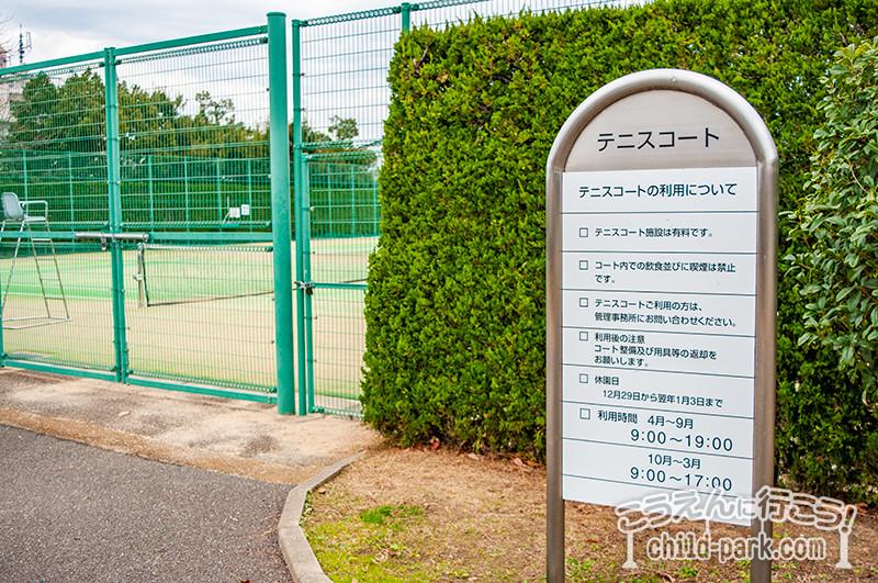 西南杜の湖畔公園 テニスコート