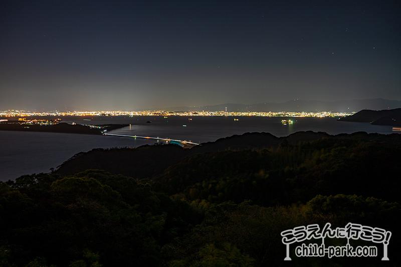 潮見公園からの夜景
