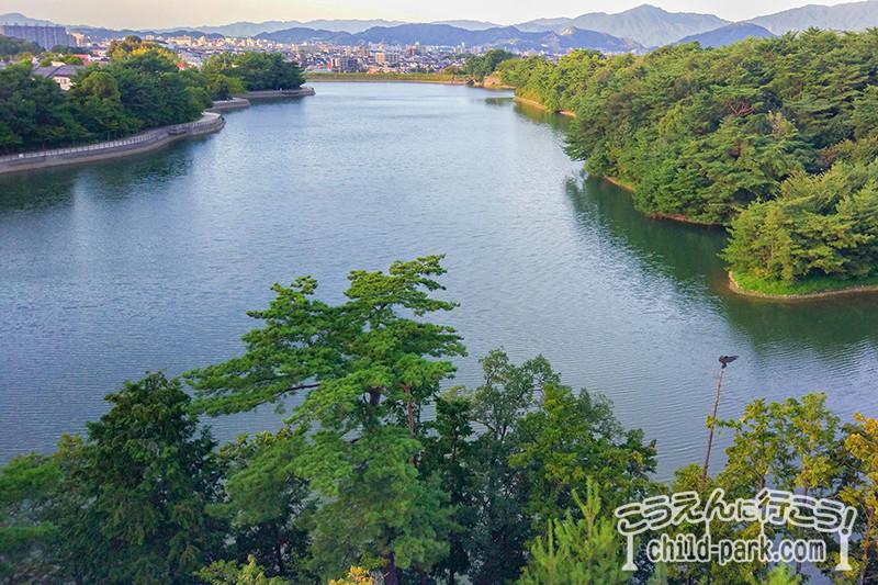 白水大池公園の展望台からの景色